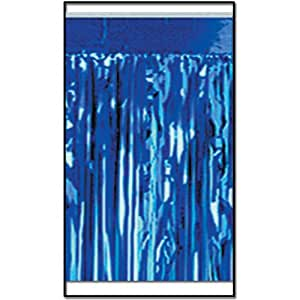 2-Ply FR Metallic Fringe Drape (blue) Party Accessory  (1 count)