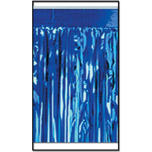 2-Ply FR Metallic Fringe Drape (blue) Party Accessory  (1 count) ()