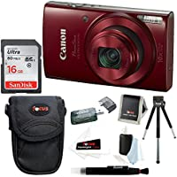 Canon PowerShot ELPH 180 20 MP Digital Camera (Red) w/...