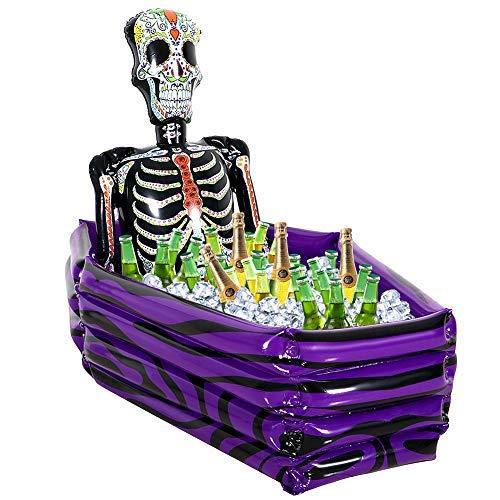 JoyJon Christmas Decorations Inflatable Cooler Skeleton Coffin Ice Bucket 40