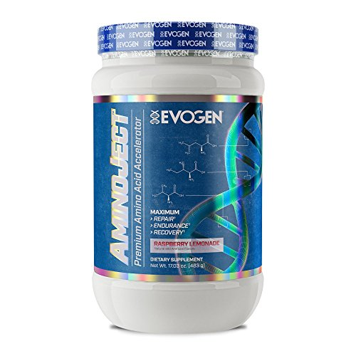 Cheap Evogen AminoJect | Vegan Fermented Plant Based BCAA, Glutamine, Citrulline Powder | Raspberry Lemonade | 30 Servings
