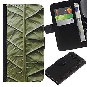 A-type (Hoja Verde Naturaleza Biología Vignette) Colorida Impresión Funda Cuero Monedero Caja Bolsa Cubierta Caja Piel Card Slots Para Samsung Galaxy S3 III i9300 i747