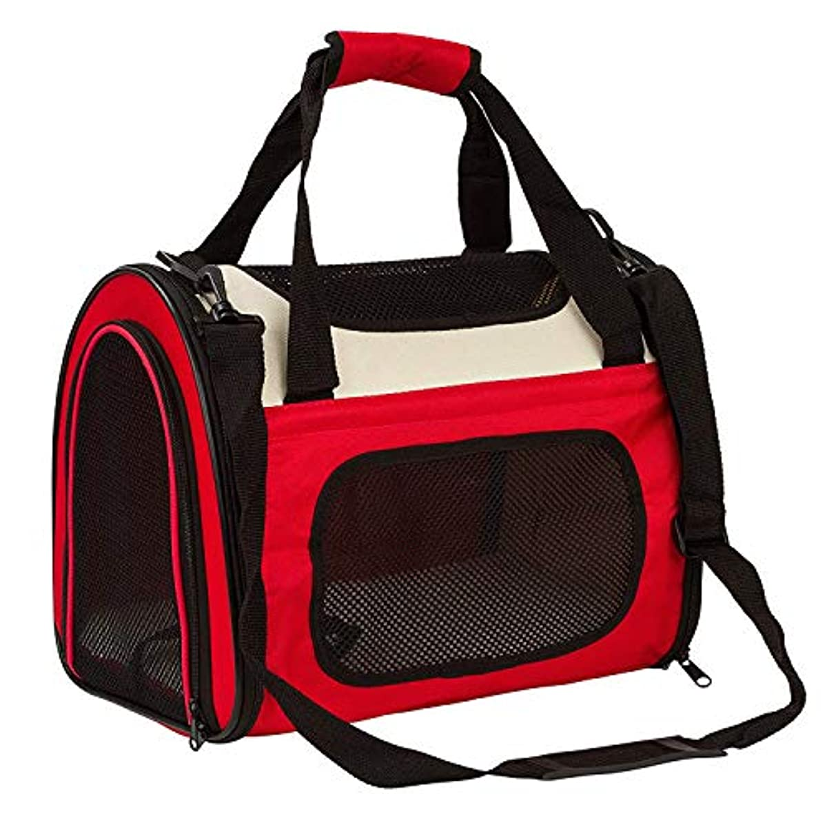 [해외] PETTOM 애완동물 캐리접이식 소프트 메쉬 3WAY 이동가방