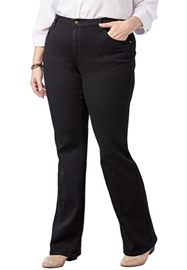 ed8c1997575bc Woman Within Plus Size Petite Perfect Bootcut Jean at Amazon Women s Jeans  store