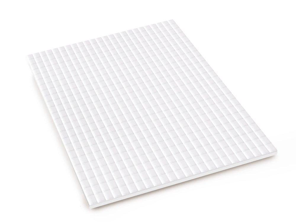 Multicraft 3D Pop Dots Dual-Adhesive Micro Foam Adhesives-White Square.2 576//Pkg
