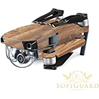 SopiGuard Oak Wood Precision Edge-to-Edge Coverage Vinyl Skin Controller Battery Wrap for DJI Mavic Pro