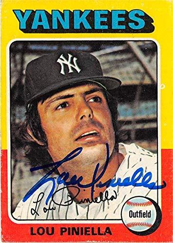 Lou Piniella autographed baseball card (New York Yankees) 1975 Topps #217 - Baseball Slabbed Autographed Cards