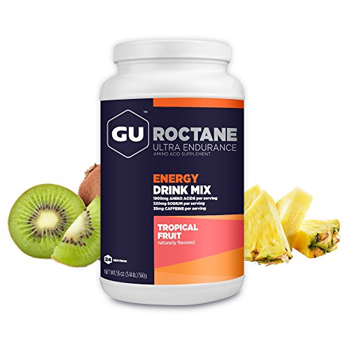 GU Roctane Ultra Endurance Energy Drink Mix, Tropical Fruit, 3.44 lbs Jar