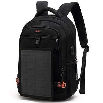 ZJY Mochila Solar de Gran Capacidad 30L, Cargador de ...