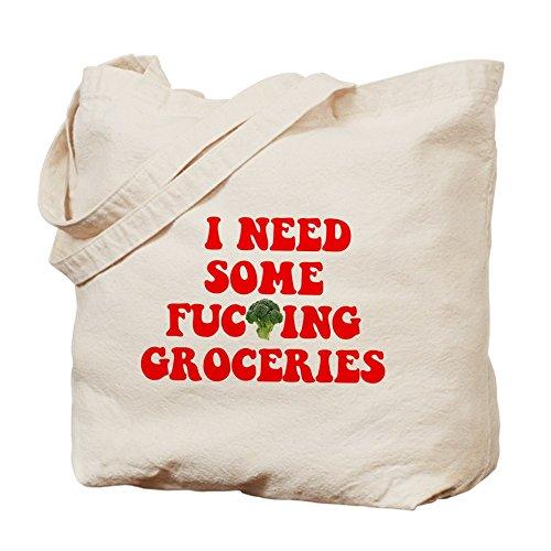 CafePress–I need de comestibles–Gamuza de bolsa de lona bolsa, bolsa de la compra