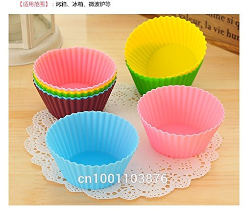6PCS Round Shape Silicone Muffin Cases Cake /Pudding/Chocolate Cupcake Mold /Cup Cake/Baking Mould Bakeware Baking Mold DIY Tool