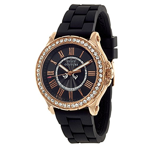 Juicy Couture Women's 1901055 Pedigree Black Silicone Strap Watch