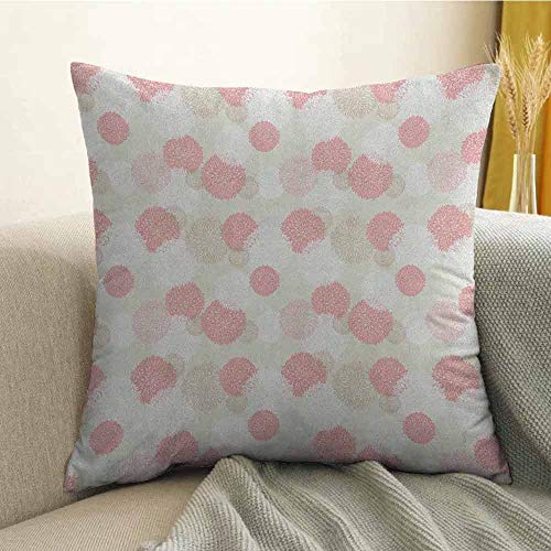 FreeKite Pastel Silky Pillowcase Soft Toned Spring Floral Motif with Peony Blossoms Petals Natural Image Super Soft and Luxurious Pillowcase W20 x L20 Inch Brown Pale Pink - Peony Nikkis