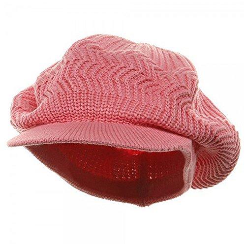 Rasta/NYE Crown Plain Beanie Visor-Pink OSFM