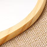 Y.F.M Natural Wood Mirror Wooden Hand Mirror