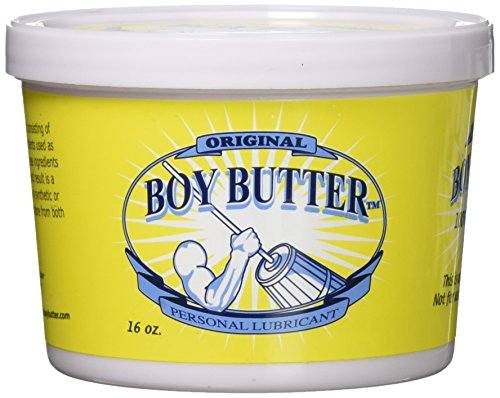 Boy Butter 16oz Personal Lubricant | Natural Coconut Oil & Organic Silicone | Non Staining, Washable & Slick Lube for Adult Men, Women & Couples | Original Formula Oil Based Cream Made in The USA