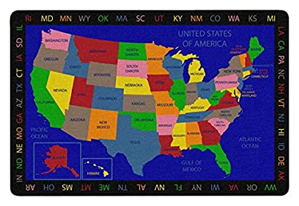 Amazon.com: Childcraft Geography United States of America Carpet, 6 on