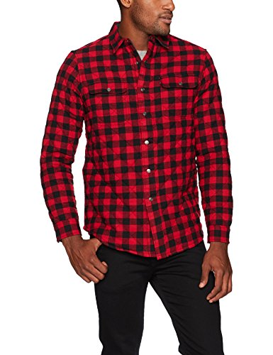 Tailor Vintage Men's Quilted Reversible Flannel Shirt Jacket, Multi, L