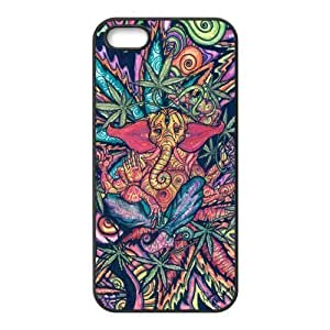 Funny Trippy Elephant - Personalized Crystal Clear Enamel Hard Back Shell Case Cover Skin for iPhone 4/4S