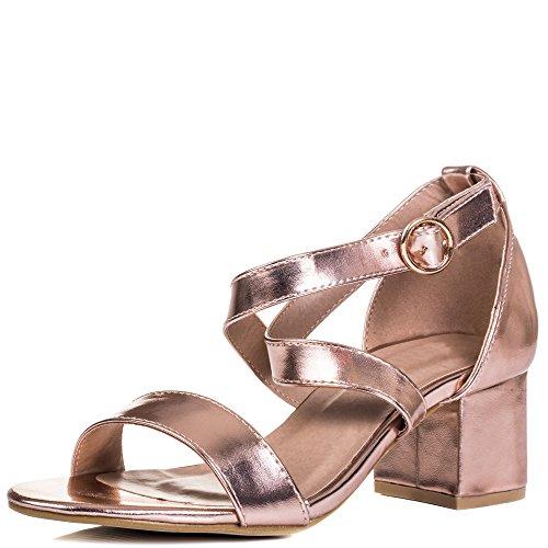 Spylovebuy Fancy does Damen Verstellbare Schnalle Blockabsatz Sandalen Schuhe Pumps