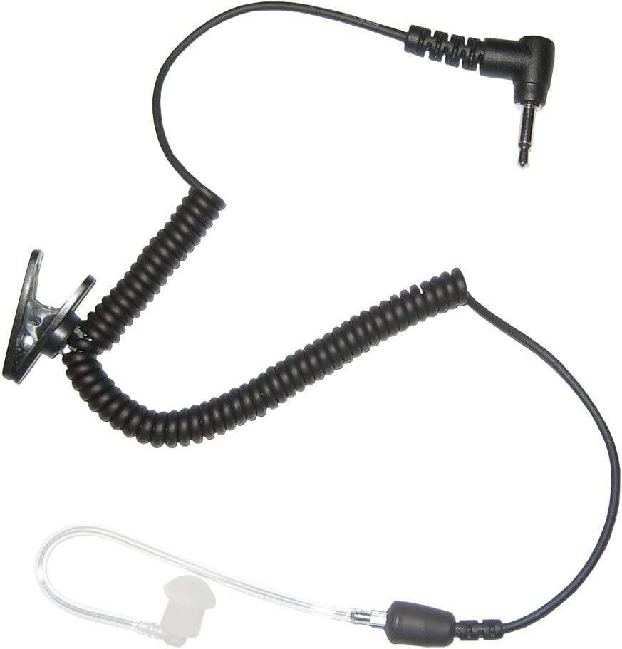 3.5mm Jack Straight Listen Only Transparent Acoustic Tube Earpiece Headset New
