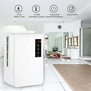 Smart Dehumidifier, Afloia Portable Medium Dehumidifier for Bathroom 3L Water Tank Auto Air Dehumidifier Mid Size Dehumidifiers Home 5500 Cubic Feet