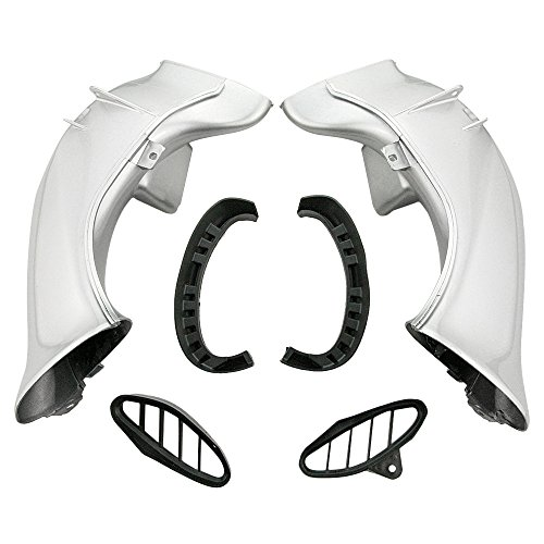 GZYF Ram Air Intake Tube Duct for YZF R1 2004-2006 Silver: