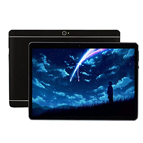 "Aprettysunny 2018 Newest 10.1"" HD Display,2 in 1 Touchscreen Tablet PC,Intel Quad-Core Processor,1GB+16GB Dual Webcam Wi-fi Bluetooth Android 4.4 (Black)"