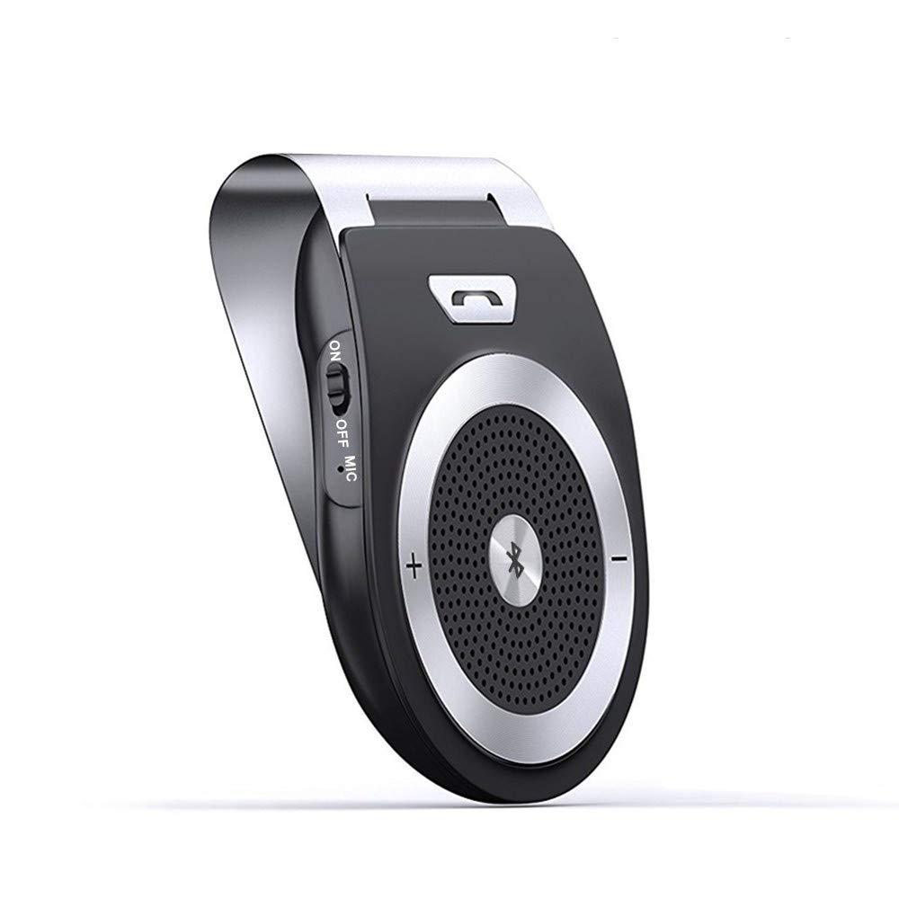 Aigoss Manos Libres Bluetooth 4.1 Coche Kit, Auto Power ON con Sensor de Movimiento Integrado y aconectar Dos telé fonos, Altavoz Inalá mbrico para Telé fonos Mó viles, admite Llamadas/GPS/ mú sic admite Llamadas/GPS/ mús