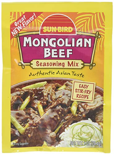 SUNBIRD MIX SSNNG BEEF MONGOLIAN, 1 OZ (pack of 10) Beef Pepper Stir Fry