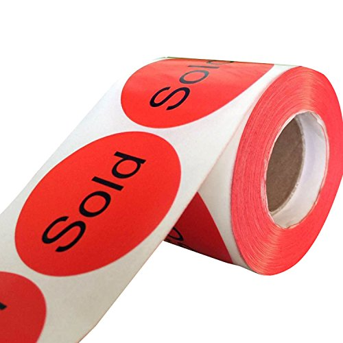 Wootile 500 2 Quot Stickers Labels Quot Sold Quot Red Stickers Labels