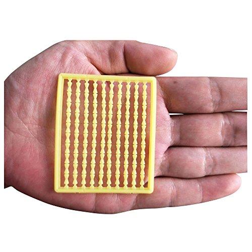 ICE SEA 5 pcs Carp Fishing Hair Stoppers Boilie Bait Fishing Hair Rig Carp Fishing Accessories (Yellow1-5pcs)