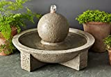 Campania International FT-159-AL M-Series Sphere Fountain, Aged Limestone Finish