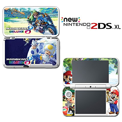 Mario Kart 8 Deluxe Animal Crossing Video Game Vinyl Decal Skin Sticker Cover for Nintendo New 2DS XL System ()