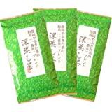 静岡やぶきた茶の一番茶ブレンド 深蒸し茶 100g×3本