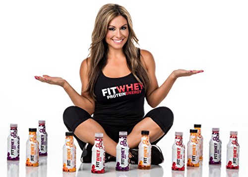 FitWhey 20g Whey Isolate Grape Protein Drink + Caffeine, Case of 12