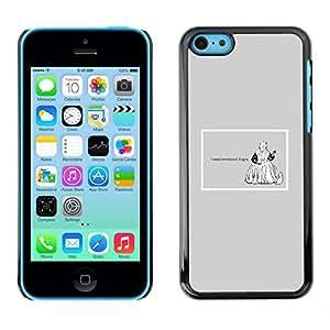 TECHCASE**Cubierta de la caja de protección la piel dura para el ** Apple iPhone 5C ** Emotions Viagra Funny Quote Life Motivational