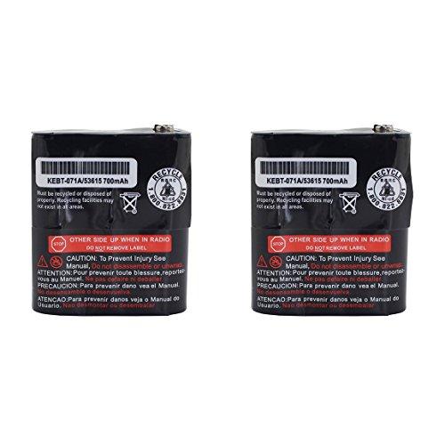 Karier 2Pcs 700mAh Replacement Ni-CD Two-Way Radio Battery for Motorola Talkabout Radio MR350 MJ270 EM1000 MC220 T5000 FV500 FV800 T5950 T6000