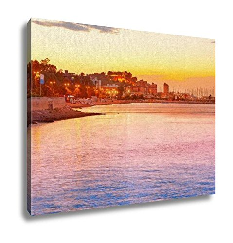Ashley Canvas, Denia Sunset Las Rotas In Mediterranean Spain, Home Decoration Office, Ready to Hang, 20x25, AG6518821 by Ashley Canvas