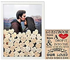 Impress your guests with our unique Guestbook Alternative! Ideal for your wedding, baby shower, sweet 16, plus much more!    Our Guest Book comes with 80 small hearts and 2 large hearts. Does your event have more than 80 Guest? We have many ...