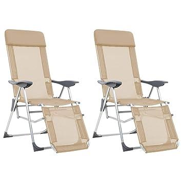 Festnight Sillas Plegables de Camping Playa de Aluminio con ...