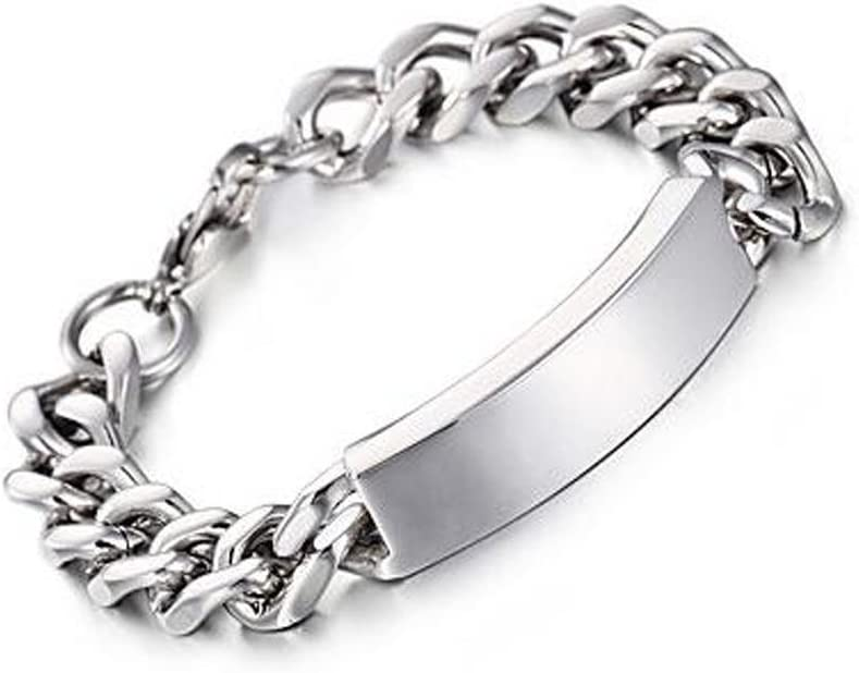 GYJUN Accesorios regalo Cool nuevo enlace cadena pulseras 316L acero inoxidable joyería alta mano pulido cadena barato de los hombres