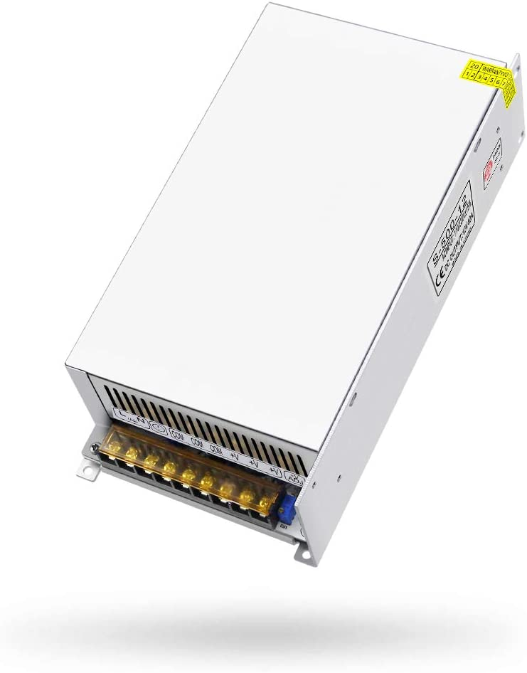 SHNITPWR 12V Power Supply 40A 480W Regulated Switch Power Transformer AC 110V 220V to DC 12 Volt 40amp 38A 35A 32A 30A Converter Adapter LED Driver 3 Output Ports for LED Light 3D Printer CCTV Cameras