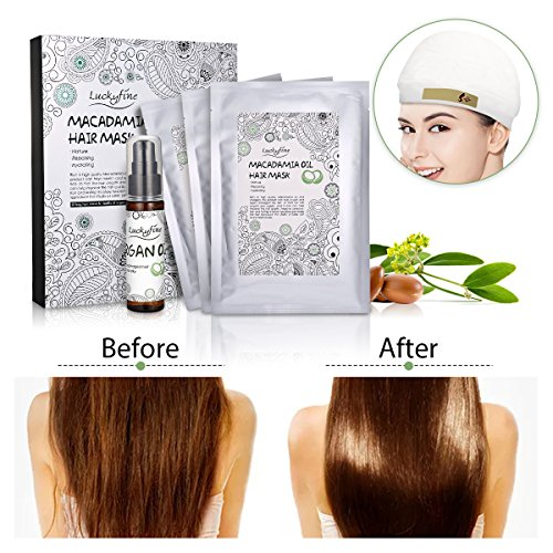 Hair Treatment Masks Kit, LuckyFine Argan Oil Hair Treatment