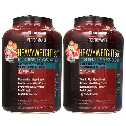 【2個セット】 Champion Nutrition チャンピオンニュートリション ヘビーウエイトゲイナー900 3.17kg [海外直送品] (チョコレートブラウニー) B017LH0PWC チョコレートブラウニー
