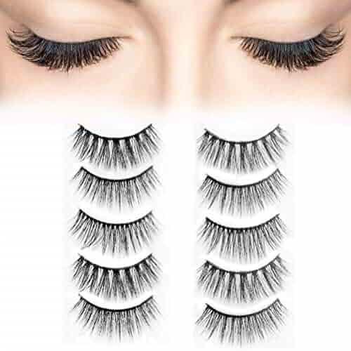 82dfb21b5d6 Fake Eyelashes Natural Wipsy Lashes False Eyelashes Silk False Eyelashes 5  Pairs per Set Multipack Package