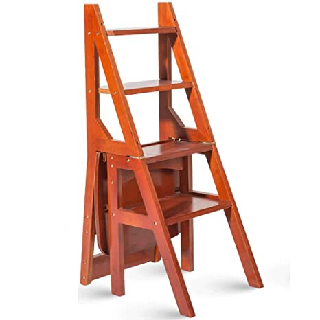 Geyao Sgabello Ladder Multifunzione Casa In Legno Massello Ikea