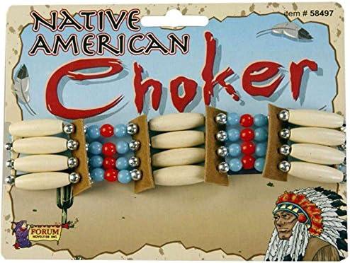 Forum Novelties Beaded Native American Choker – Standard –  Brown – The Super Cheap