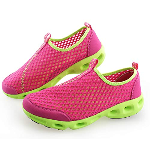 ZHZNVX Zapatos de Mujer Tulle Spring/Fall Comfort Sneakers Flat Heel Round Toe Fucsia/Rosa / Royal Blue Fuchsia