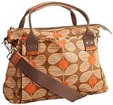 Orla Kiely Matt Laminated Daisy Stem Print 13SEDAS100-6110-00 Shoulder Bag,Scarlet,One Size, Bags Central